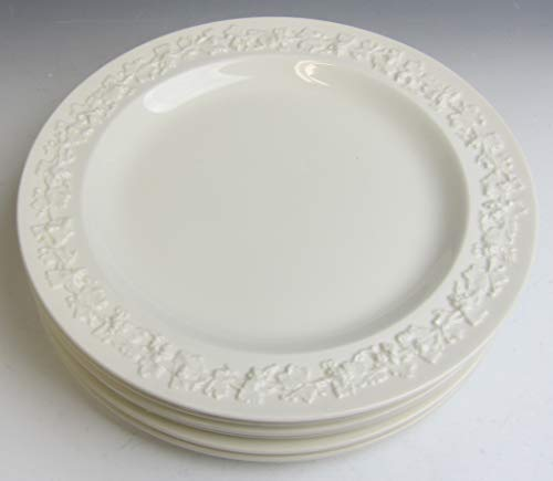 Lot of 6 Wedgwood China CREAM ON CREAM PLAIN EDGE Salad Plates EXCELLENT