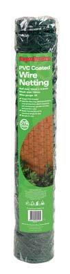 PVC beschichteter Hühnerzaun Drahtgeflecht 10m x 50mm, 5m grün Gauge 21 5m grün Gauge 21 SupaGarden VDTAZ012B