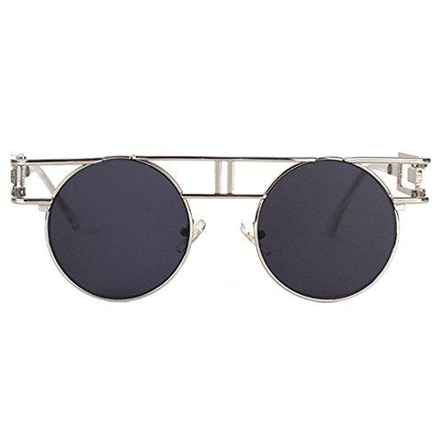 Aoligei Lunettes retro gothiques mans lunettes de soleil brillant réfléchissant lady rétro punk A