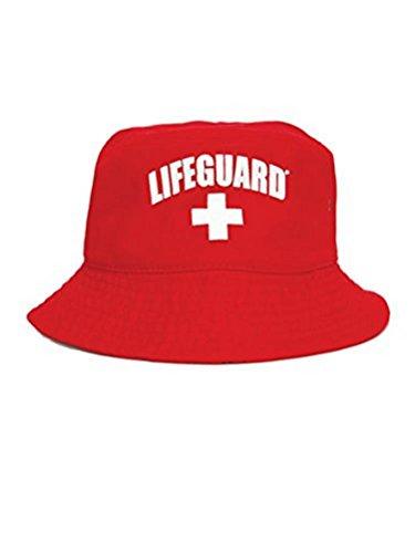 LIFEGUARD Unisex Bucket Hat (S/M) Red ()
