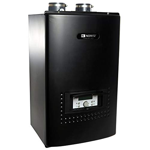 Noritz CB180-DV-LP CB180DVLP Indoor Direct Combination Boiler (Standard Vent Convertible) with Built-in Pump, max. 180,000 BtuH DHW, 10.1 Gym, 100,000 But Space Heating-LP, White (Best High Efficiency Natural Gas Boiler)
