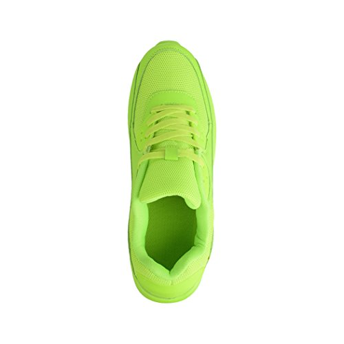 Elara Damen Herren Sneaker | Unisex Sport Laufschuhe | Turnschuhe | Chunkyrayan Green Durban