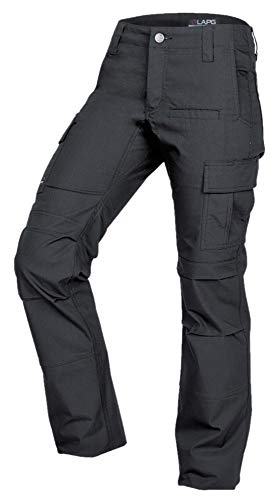 LA Police Gear Women's Mechanical Stretch Ops Tactical Cargo Pants - Charcoal-2-LONG