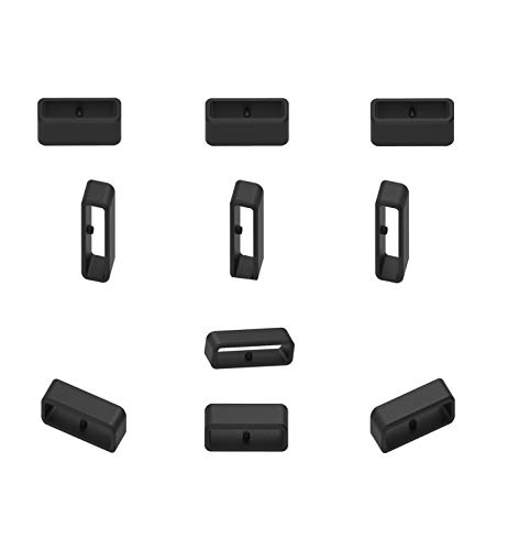 RuenTech Replacement Fastener Ring for Garmin Forerunner 35 Band Fasteners(Pack of 10) Silicone Connector Security Loop for Garmin Forerunner 35 Watch Band