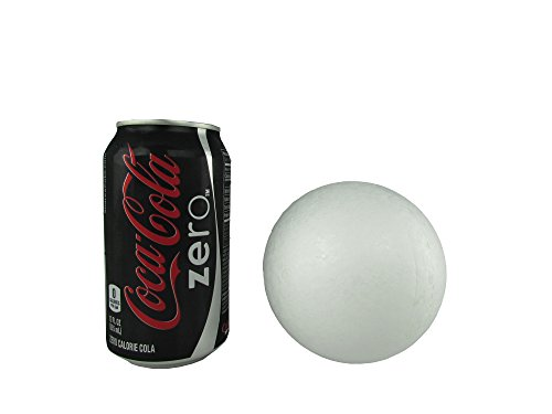 Smooth Foam Balls for Crafts and School Projects (4 Inch - 12 Balls)