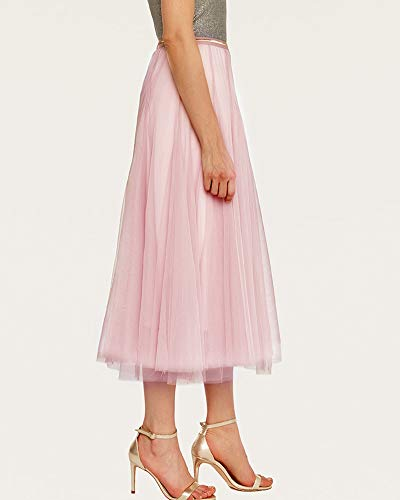 Longue Rtro Maxi Femmes Pink Jupes Jupe Mengmiao Longue qwvH51CEE