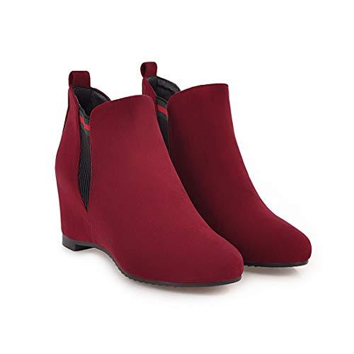 Sandalette-DEDE Zapatos para Mujer/Botas Botas de Mujer, Botas de Mujer, Botas Bajas, Botas Bajas Red wine