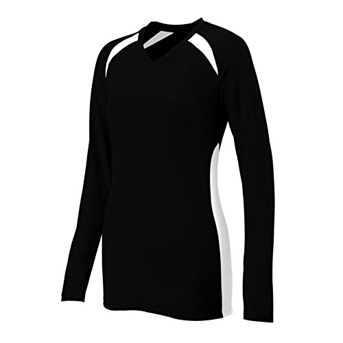 Augusta Athletic Ladies Spike Jersey, Black/White, Small by Augusta Athletic