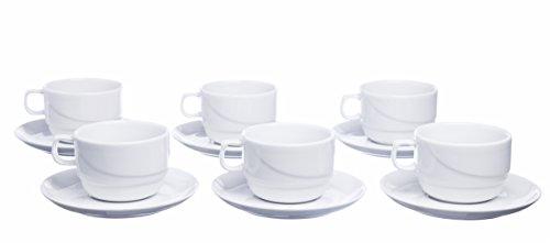 Porcelain 12 Piece Tea Set - 8