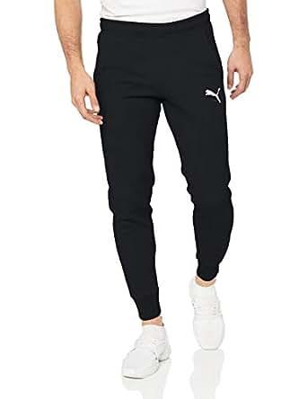 PUMA Men's ESS+ Slim Pants FL, Cotton Black, S