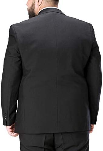 Wemaliyzd Formal Men's 3 Piece Business Suit Plus Size Notch Lapel 1 Button Blazer Jacket Vest Pants FZ080-BWT(Green,56R)