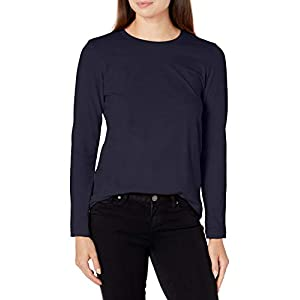 American Apparel Women's Fine Jersey Classic Crewneck Long Sleeve T-Shirt