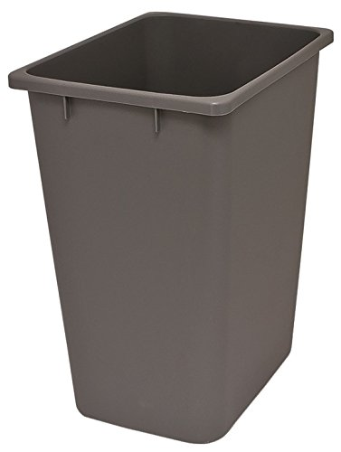 36 Qt. Replacement Waste Bin For Cabinet Recycling Pull Out Trash Organizer  (Grey