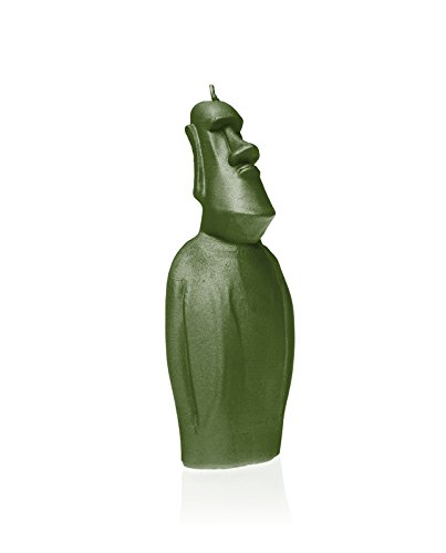 Candellana Candles 5902650679566 Moai Statue Novelty Candles, Dark Green by Candellana Candles