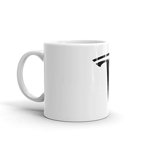 - Tesla Motors T Logo Sticker Elon Musk 11 Oz White Ceramic