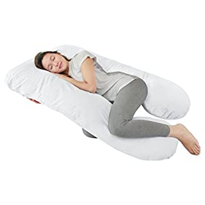 QUEEN ROSE Full Pregnancy Body Pillow Originally with Hypoallergenic Pillow Cover(Pure White)