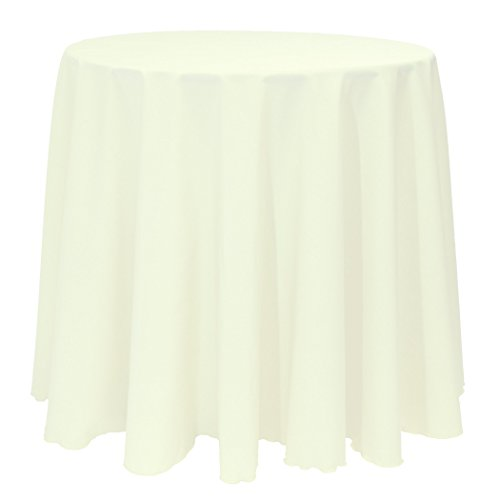 Ultimate Textile (40 Pack) 90-Inch Round Polyester Linen Tablecloth - for Wedding, Restaurant or Banquet use, Ivory by Ultimate Textile