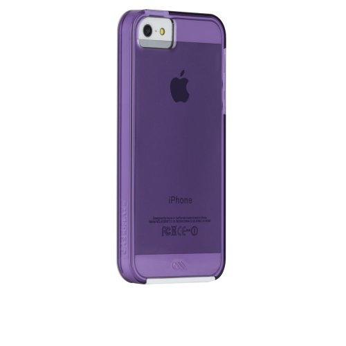 iPhone 5/5s Naked Tough Color Cases Violet/White Bumper