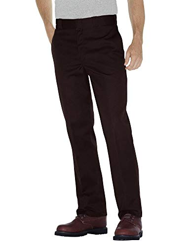 Dickies Men's Original 874 Work Pant, Dark Brown, 44W x 34L