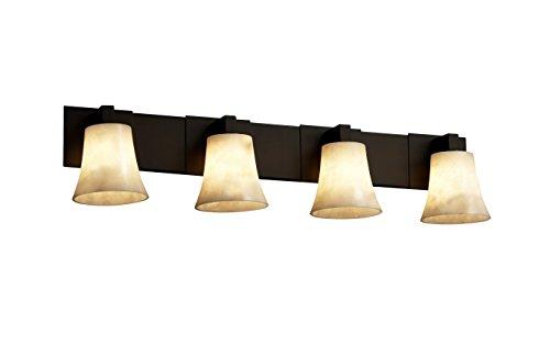 Justice Design Group CLD-8924-20-ABRS Clouds Collection Modular 4-Light Bath Bar Light Fixture