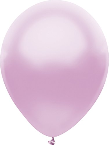 (PartyMate 71999 Made in the USA Metallic 5-Inch Latex Balloons, 50-Count, Silk Lilac)