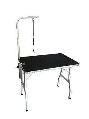 New BestPet Large Adjustable Pet Dog Grooming Table w/Arm/Noose H02