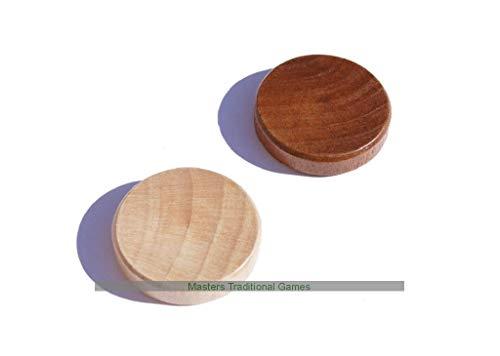 Philos Wooden Backgammon Stones - 30mm
