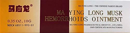 Ma Ying Long Musk Hemorrhoids Ointment 10 Grams (Best Way To Get Rid Of External Hemorrhoids)