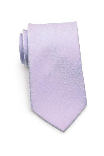 Bows-N-Ties Men's Necktie Solid Color Herringbone Matte Microfiber Tie 3.1 Inches (Sweet Lavender)