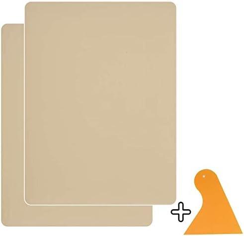 Homean - Parches autoadhesivos para reparación de cuero, 2 parches para sofá, muebles, asiento de coche, 20 x 28 cm