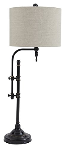(Ashley Furniture Signature Design - Anemoon Table Lamp - Industrial Chic - Black)