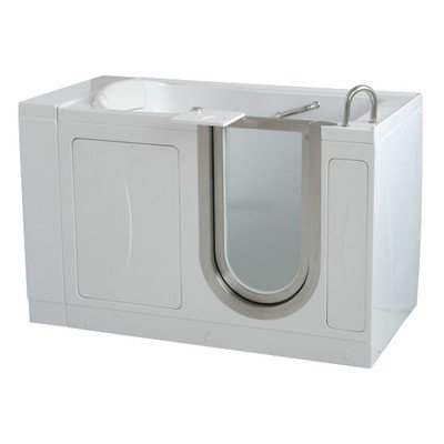 52'' x 30'' Elite Soaking Walk In Tub Door and Drain Location: Left