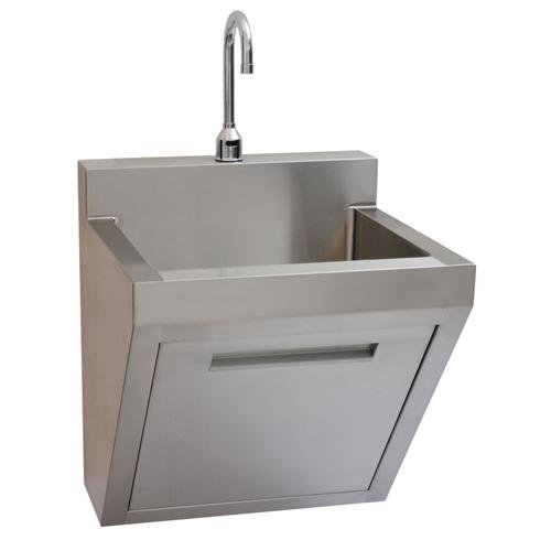 Surgical Scrub Sink, Wall Mounted, includes deck mounted faucet