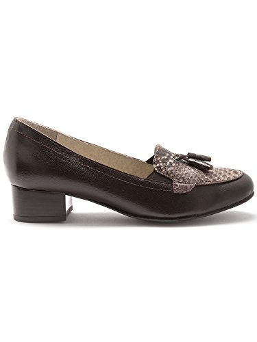 Donna Pediconfort Marron Sabot Python sandali facon 0WHErAwHq