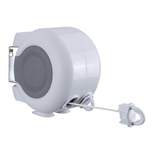 Metaltex 406378 Skomer Retractable Clothesline, White, 30 m