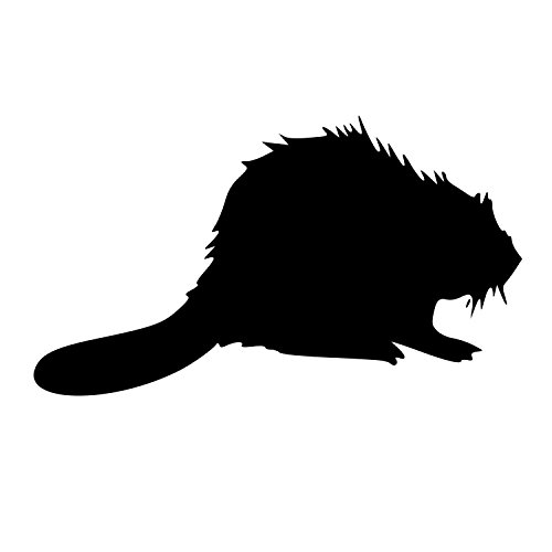 Fuzzy Beaver (Elma332Tuttle Fuzzy Beaver DieCut Decal Car Window Wall Bumper Phone Laptop)