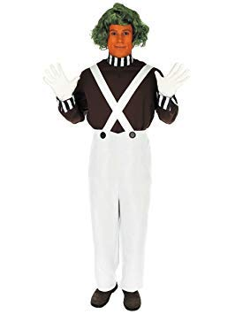 Fun Shack Adult Oompa Loompa Factory Worker Costume With Wig - X Large ()