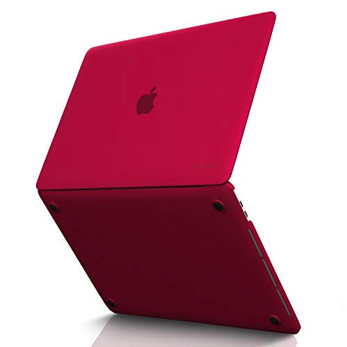 Kuzy - MacBook Pro 15 inch Case 2019 2018 2017 2016 Release A1990 A1707, Hard Plastic Shell Cover for Newest MacBook Pro 15 case with Touch Bar Soft Touch - Wine