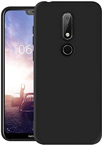 timeless design 20ceb b8ad7 Lofad Case Back Cover for Nokia 6.1 Plus Black
