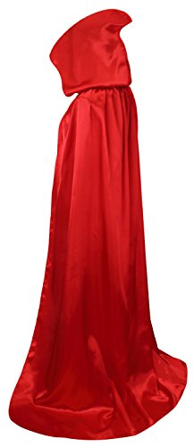 VGLOOK Unisex Hooded Halloween Christmas Cloak Costumes Party Cape(Red)