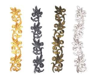 (Leaf Scroll Applique (metallics) By Shine Trim - Gold)