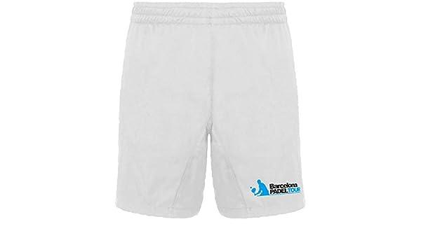 Barcelona Padel Tour Pantalón Corto Hombre Blanco S: Amazon ...