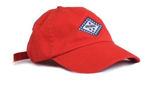 Arkansas Razorback State Flag Low Profile Baseball Hat / Golf Cap