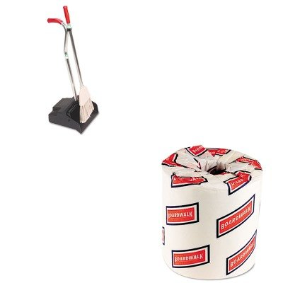 KITBWK6180UNGEDPBR - Value Kit - Ergo Dustpan/Broom, 12quot; Wide (UNGEDPBR) and White 2-Ply Toilet Tissue, 4.5quot; x 3quot; Sheet Size (BWK6180) by Unger