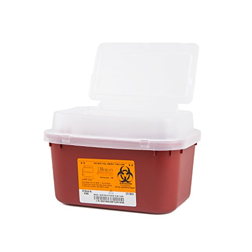 1 Gallon Stackable (Medegen Medical Products 8706 Stackable Sharps Containers with Print, Polypropylene, Medium, 10