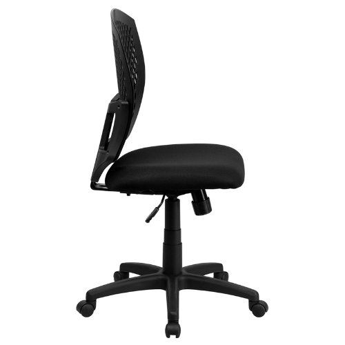Flash Furniture Mid-Back Designer Back Swivel Task Chair with Fabric Seat