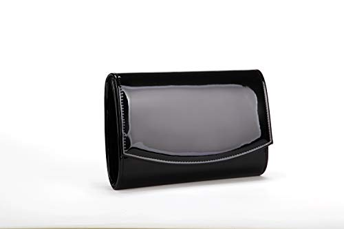 Nodykka Evening Bag Clutch Purses For Women Patent Leather Handbags Party Wedding Envelope Solid Color Wallet