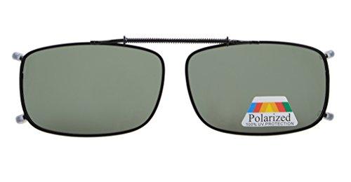 Eyekepper Metal Frame Rim Polarized Lens Clip On Sunglasses G15 Lens 2 1/16