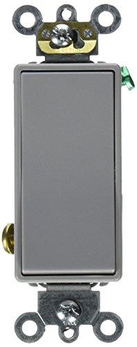 Leviton 5693-2GY 15 Amp 120/277V Decora Plus Rocker 3 Way AC