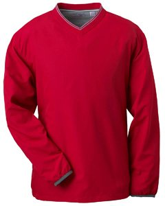 Ashworth 2010 Men's Long-Sleeve V-Neck Golf Wind Pullover (Carmine - S)